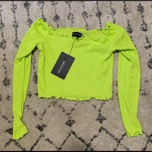 PrettyLittleThing Tops - Neon Crop Top